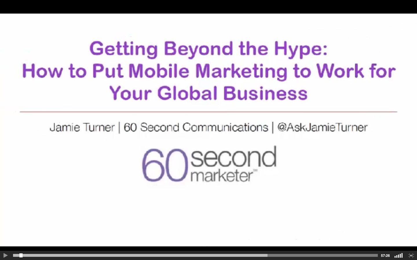 Mobile Marketing Webinar